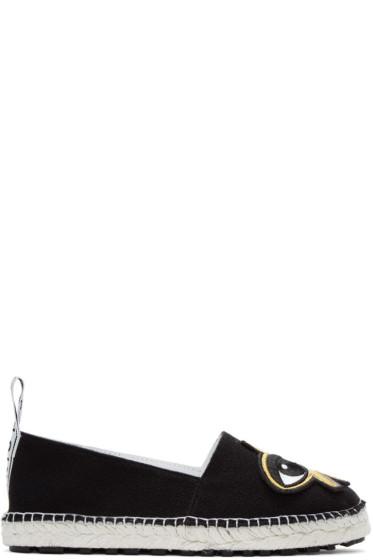 Kenzo - Black K-Patch Espadrilles