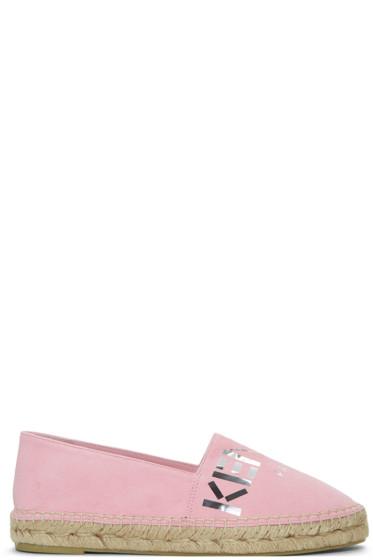 Kenzo - Pink Suede Logo Espadrilles