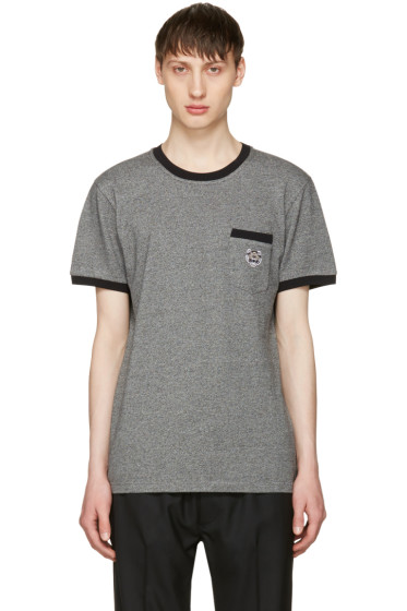 Kenzo - Grey Tiger Pocket -T-Shirt