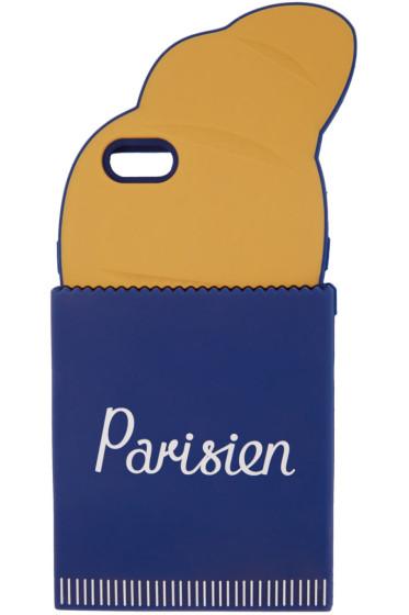 Maison Kitsuné - Navy & Orange 'Parisien' 3D Croissant iPhone 6 Case