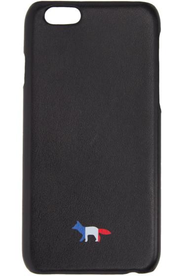 Maison Kitsuné - ブラック レザー トリコロール フォックス iPhone 6 ケース