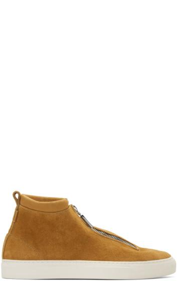 Diemme - Tan Suede Fontesi High-Top Sneakers