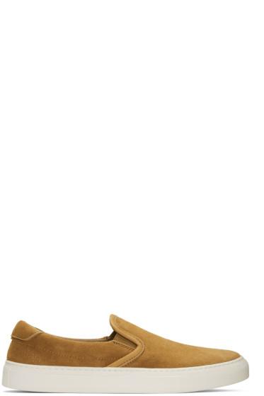 Diemme - Tan Suede Garda Slip-On Sneakers