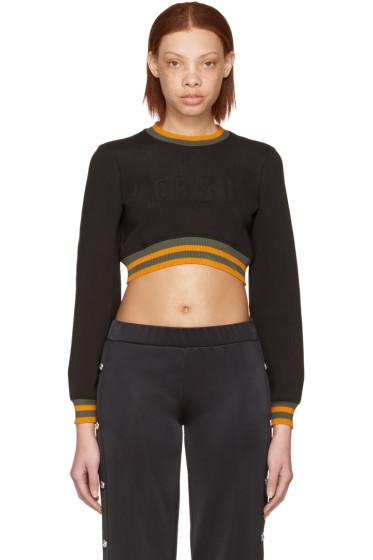 Versus - Black Cropped Logo Pullover