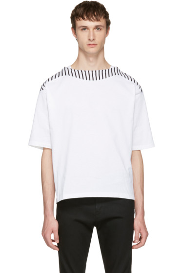 Sasquatchfabrix - White Boatneck Cutsew T-Shirt