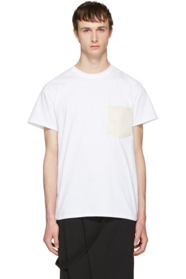 Sasquatchfabrix - White Washi Pocket T-Shirt