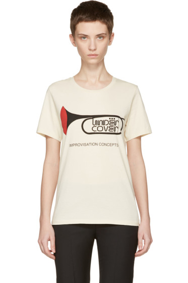 Undercover - Ivory 'Trompette Improvisation Concepts' T-Shirt