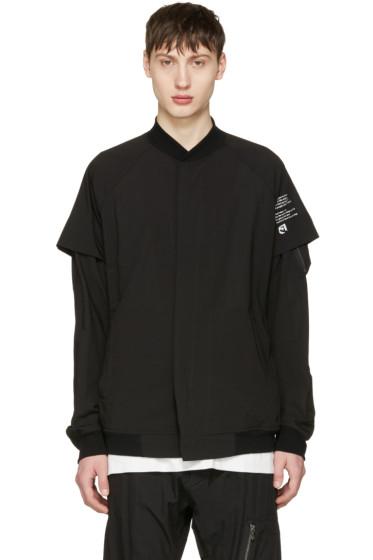 Julius - Black Panelled Bomber Jacket
