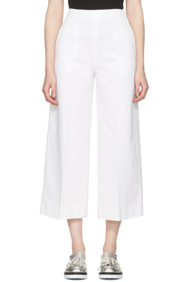 MSGM - White Wide-Leg Trousers