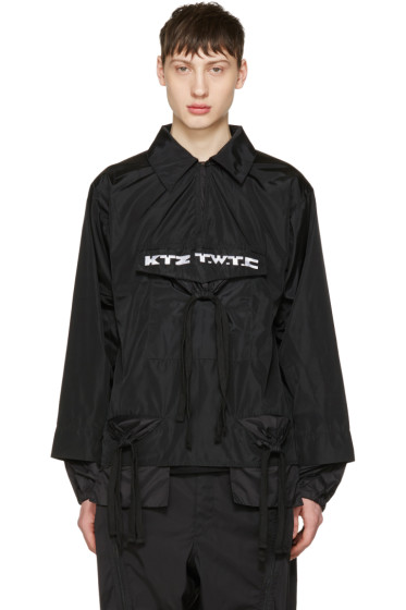 KTZ - Black Gathered Pocket Shirt