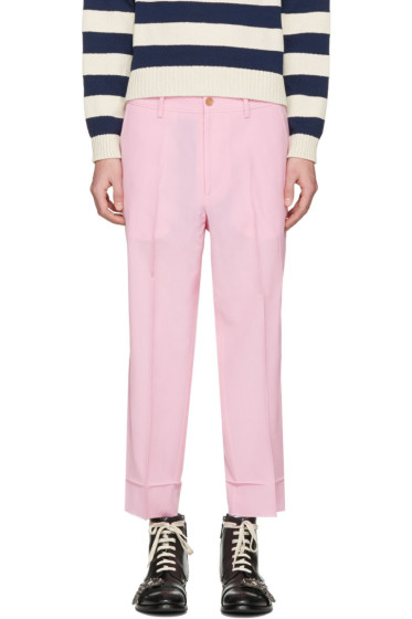 Gucci - Pink Short Loose Trousers