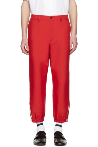 Gucci - Red Vintage Trousers