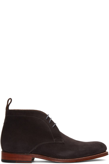 Grenson - Grey Suede Marcus Boots