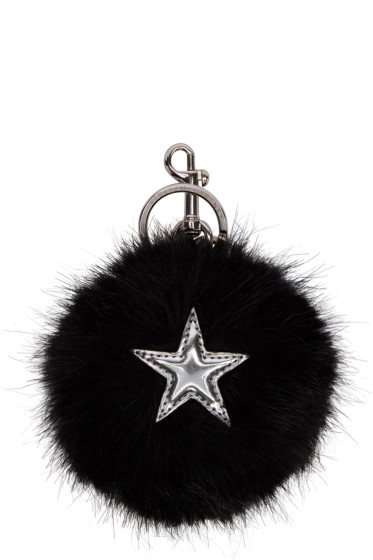 Stella McCartney - Black Faux-Fur Star Keychain