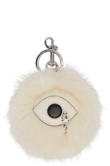 Stella McCartney - Ivory Faux-Fur Eye Keychain
