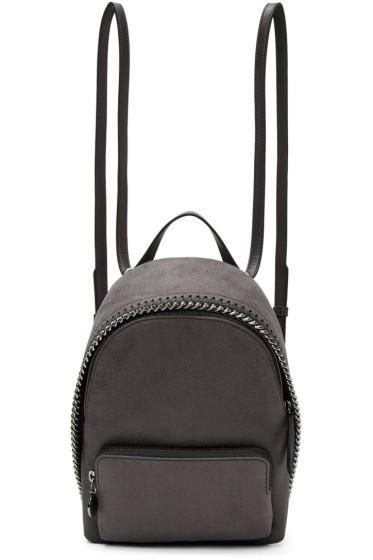 Stella McCartney - Grey Mini Falabella Backpack