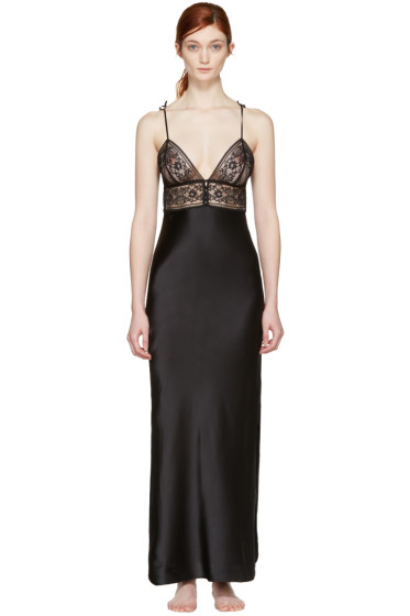 Stella McCartney - Black Ophelia Whistling Nightgown