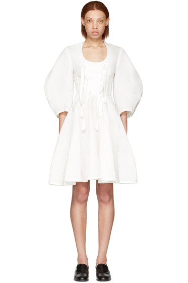 J.W. Anderson - White Front Knot Dress