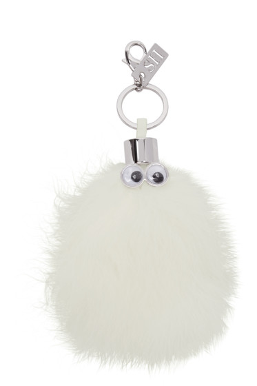 Sophie Hulme - White Casper Feather Keychain