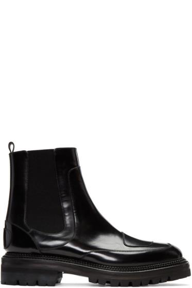 Yang Li - ブラック モト チェルシー ブーツ