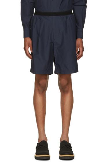 Kolor - Navy Poplin Shorts