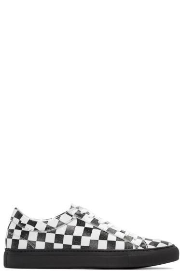 Facetasm - ブラック & ホワイト チェッカー スニーカー