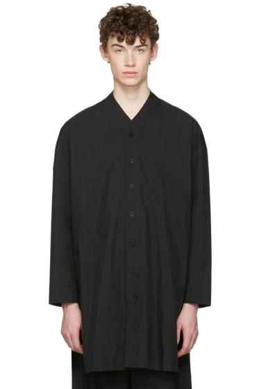 D.Gnak by Kang.D - Black V-Neck Shirt