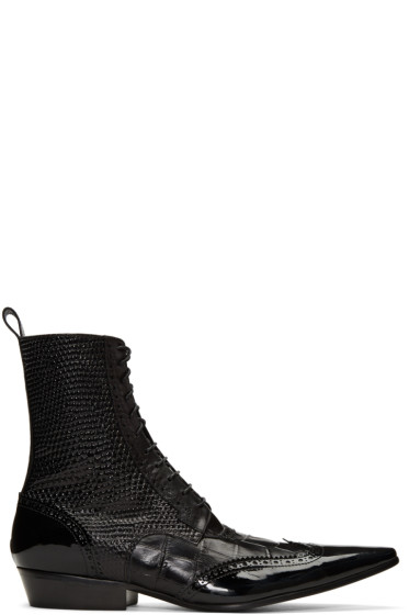 Haider Ackermann - Black Brogue Boots