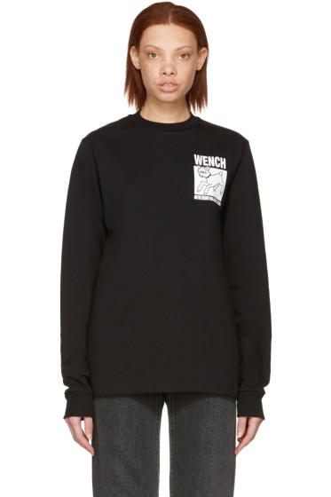 Hood by Air - Black 'Wench' Lamb T-Shirt