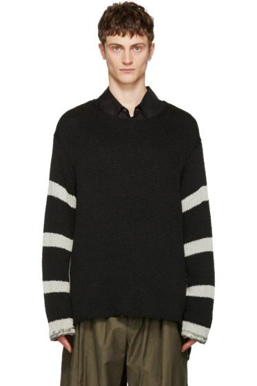 Yohji Yamamoto - ブラック ストライプ セーター