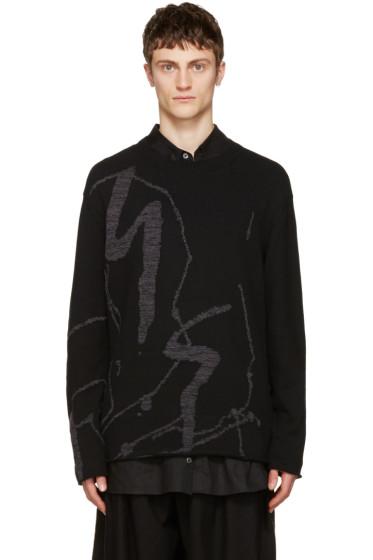 Yohji Yamamoto - ブラック ロゴ セーター