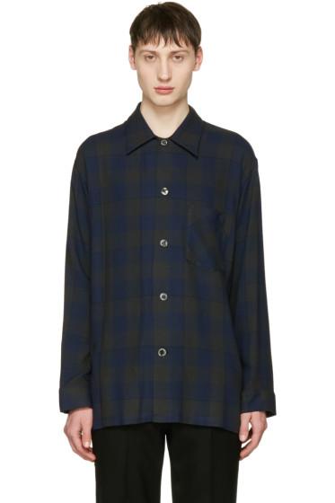 Lad Musician - Navy Check Pyjama Shirt