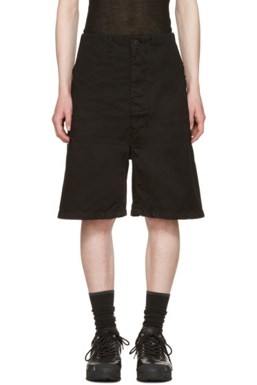 11 by Boris Bidjan Saberi - Black Chino Shorts