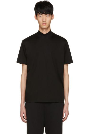 Johnlawrencesullivan - Black Mock Neck T-Shirt