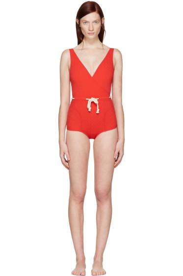 Lisa Marie Fernandez - Red Yasmin Swimsuit