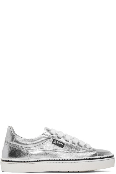 Jil Sander Navy - Silver Leather Classic Sneakers