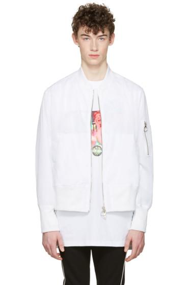 D by D - White Mesh Bomber Jacket