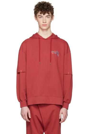 D by D - Red Vented Sleeves Hoodie