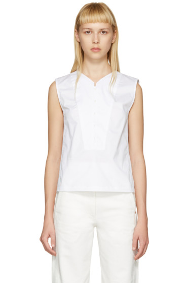 Lemaire - White Twill Tank Top