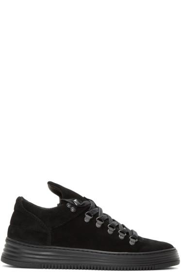 Filling Pieces - Black Mountain Cut Stripe Sneakers