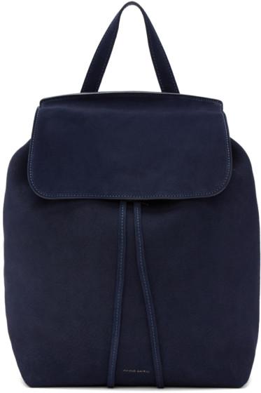 Mansur Gavriel - Navy Suede Backpack