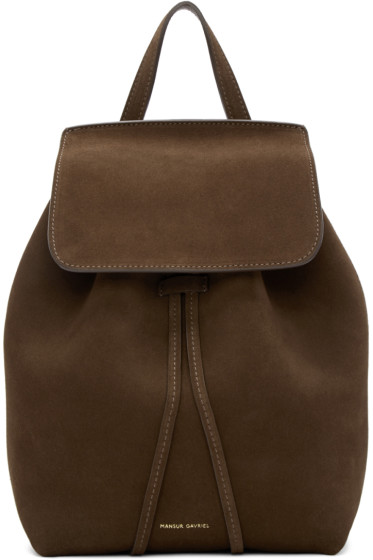 Mansur Gavriel - Brown Suede Mini Backpack