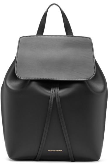 Mansur Gavriel - Black Leather Mini Backpack