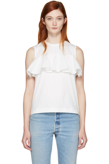 Edit - White Ruffle Top