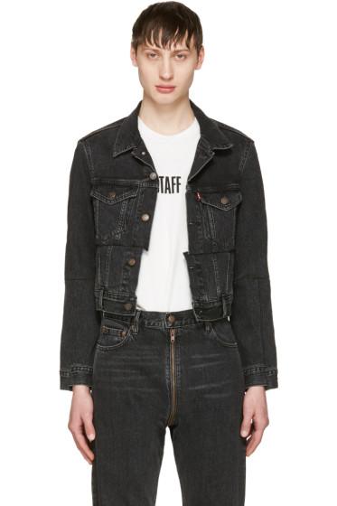 Vetements - Black Levi's Edition Reworked Denim Jacket