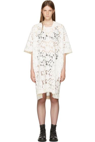Comme des Garçons Comme des Garçons - Off-White Lace T-Shirt Dress