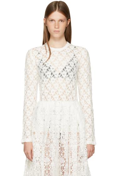 Comme des Garçons Comme des Garçons - Off-White Lace Crewneck Pullover