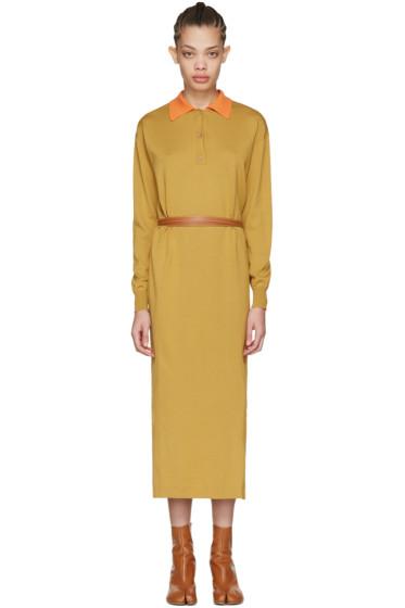Loewe - Tan Knit Polo Dress