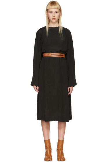 Loewe - Black Belted Tunic Dress