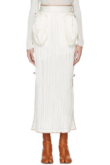 Loewe - White Crinkled Skirt
